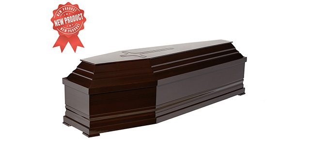 Coffin 40-size with wide detail Code 525